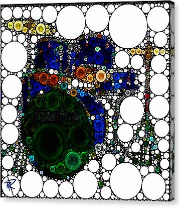 Backbeat Bubbles Canvas Print by Russell Pierce