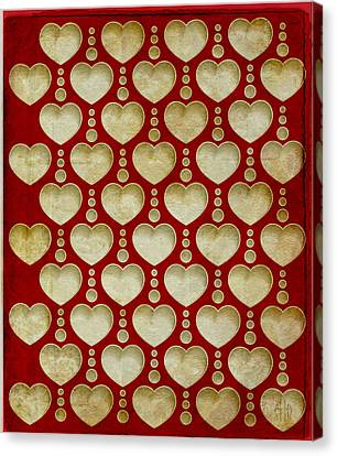 Background Heart  Canvas Print by Irina Effa