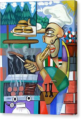 Backyard Chef Canvas Print by Anthony Falbo