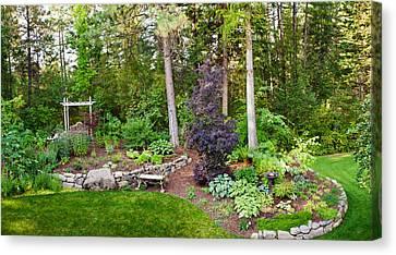 Backyard Garden In Loon Lake, Spokane Canvas Print by Panoramic Images