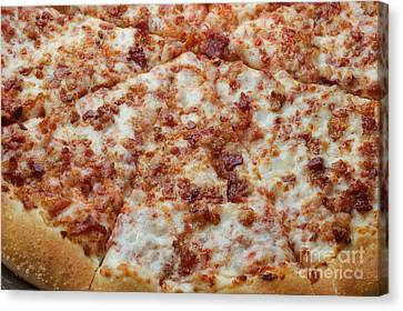 Bacon Pizza 1 - Pizzeria - Pizza Shoppe Canvas Print by Andee Design