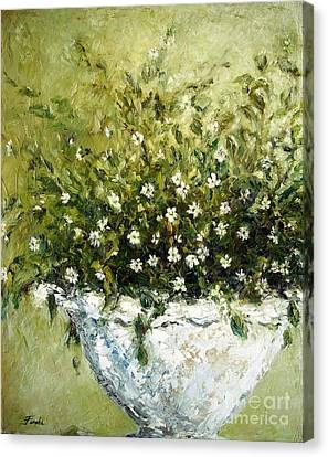 Bacopa Urn Canvas Print by Doria Fochi