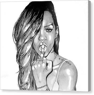 Bad Gal Rihanna Canvas Print by Mike Sarda