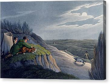 Badger Catching, 1820 Canvas Print by Henry Thomas Alken