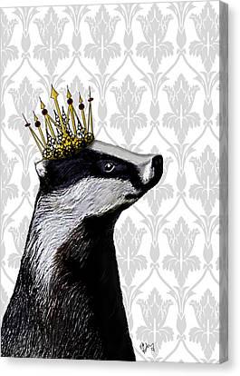 Badger King Canvas Print by Kelly McLaughlan