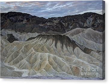 Badlands At Sunrise. Death Valley Canvas Print by Juli Scalzi