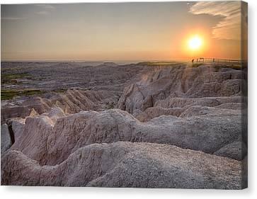 Badlands Overlook Sunset Canvas Print by Adam Romanowicz