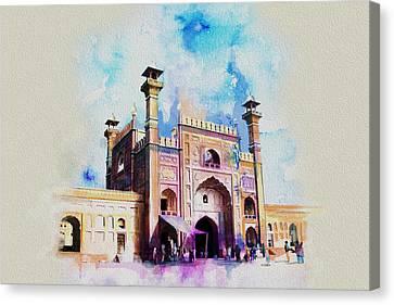 Badshahi Mosque Gate Canvas Print by Catf