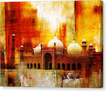 Badshahi Mosque Or The Royal Mosque Canvas Print by Catf