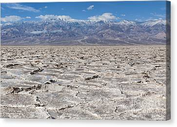 Badwater Basin - Death Valley Canvas Print by Sandra Bronstein
