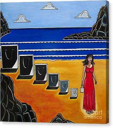 Baggage Canvas Print by Sandra Marie Adams
