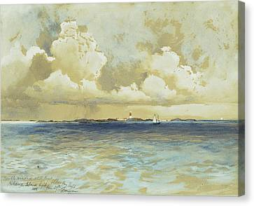 Bahama Island Light Canvas Print by Thomas Moran