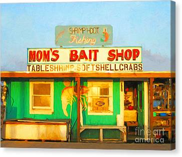Bait Shop 20130309-1 Canvas Print by Wingsdomain Art and Photography
