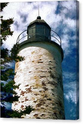 Baker Island Lighthouse Acadia National Park Maine Canvas Print by Elaine Plesser