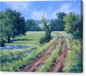 Bakers Ranch Road Canvas Print by Vickie Fears