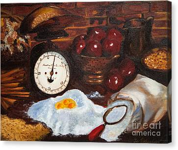 Baking From Scratch Canvas Print by Iris Richardson