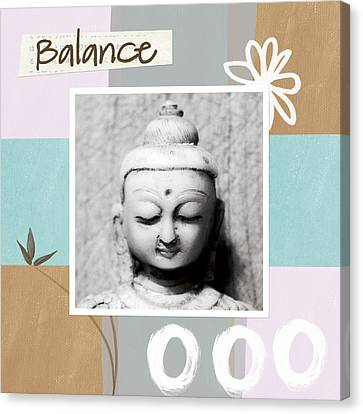 Balance- Zen Art Canvas Print by Linda Woods