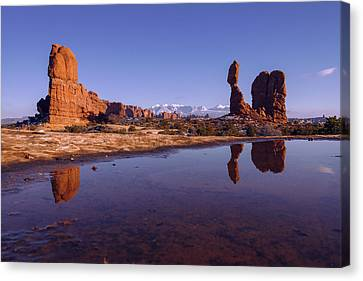 Balanced Reflection Canvas Print by Chad Dutson