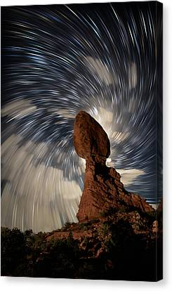 Balanced Rock Vortex Canvas Print by Mike Berenson