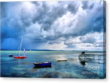 Balaton Lake Canvas Print by Odon Czintos