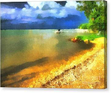Balaton Shore Canvas Print by Odon Czintos