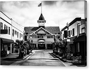 Balboa California Main Street Black And White Picture Canvas Print by Paul Velgos