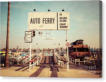Balboa Island Ferry Newport Beach Vintage Picture Canvas Print by Paul Velgos