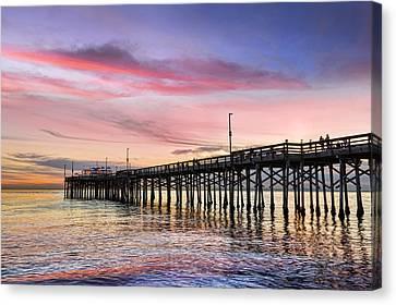 Balboa Pier Sunset Canvas Print by Kelley King