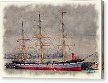 Balclutha Star Of Alaska San Francisco Canvas Print by Robert Jensen