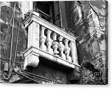 Balcony Made Of Stone Canvas Print by John Rizzuto