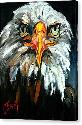 Bald And Bold Canvas Print by Carole Foret