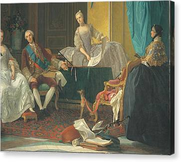 Baldrighi Giuseppe, The Family Of Don Canvas Print by Everett
