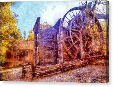 Bale Grist Mill Canvas Print by Kaylee Mason