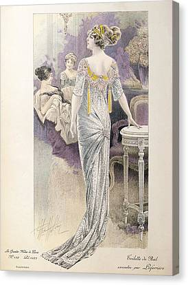 Ball Gown Canvas Print by French School