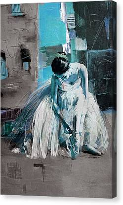 Ballerina 21 Canvas Print by Mahnoor Shah