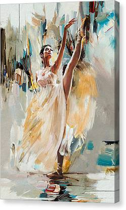 Ballerina 24 Canvas Print by Mahnoor Shah