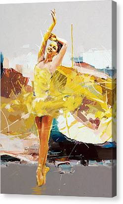 Ballerina 33 Canvas Print by Mahnoor Shah