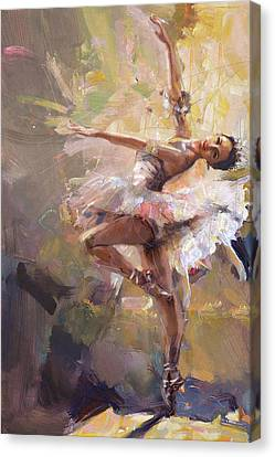 Ballerina 35 Canvas Print by Mahnoor Shah
