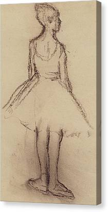 Ballerina Viewed From The Back  Canvas Print by Edgar Degas