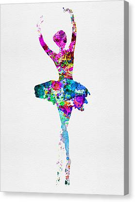 Ballerina Watercolor 1 Canvas Print by Naxart Studio