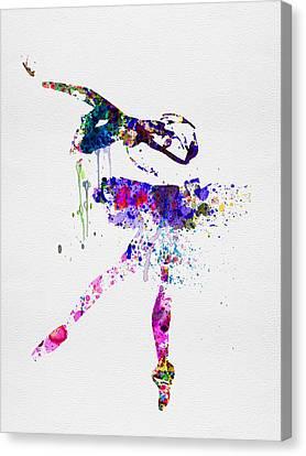 Ballerina Watercolor 2 Canvas Print by Naxart Studio