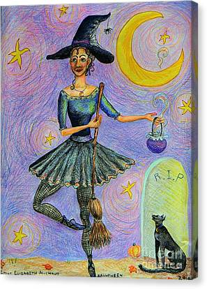 Ballerina Witch Canvas Print by Emily Michaud