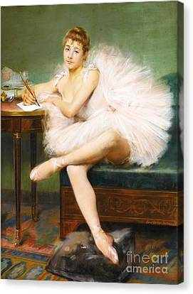 Ballet Dancer Canvas Print by Pg Reproductions