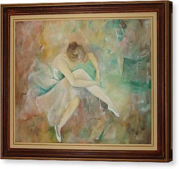 Ballet Dancers Canvas Print by Ri Mo
