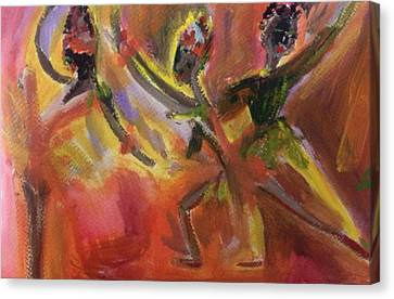 Ballet For Daybreak Canvas Print by Judith Desrosiers
