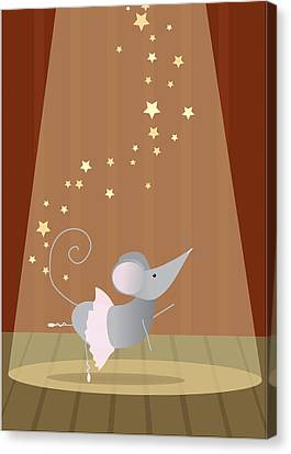 Ballet Mouse Nursery Art Girl Canvas Print by Christy Beckwith