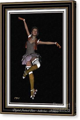 Ballet On Skates 1bos2 Canvas Print by Pemaro