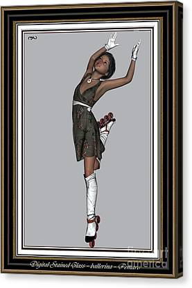 Ballet On Skates 2bos2 Canvas Print by Pemaro