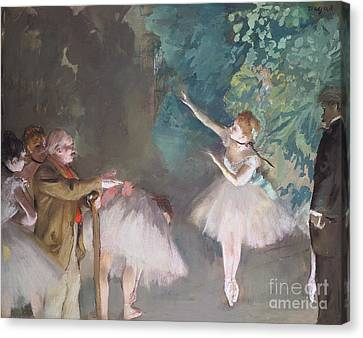 Ballet Rehearsal Canvas Print by Edgar Degas