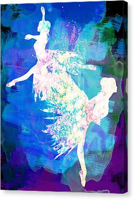 Ballet Watercolor 2 Canvas Print by Naxart Studio